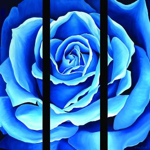 Olivia Bennett - Blue Triptych